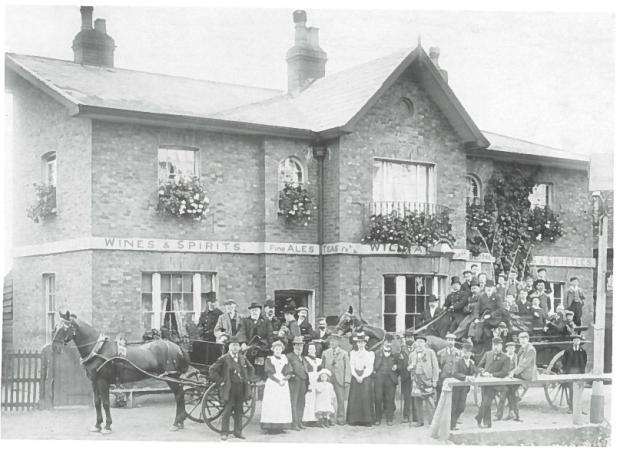 Beating the Bounds, again outside the Fox and Goose in 1898. Source: Ealing As It Was Hendon Publishing 1993