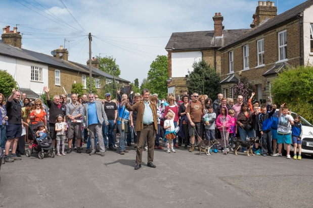 Participants at the start of the Beating the Bounds walk