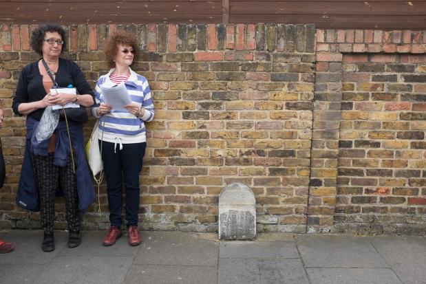 One of the parish boundary stones