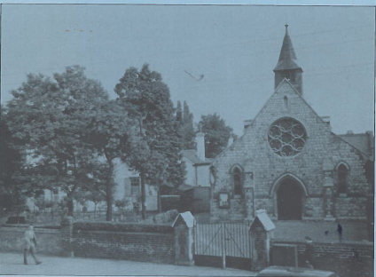 The original Our Lady and St. Joseph church. Source: OLSJ booklet