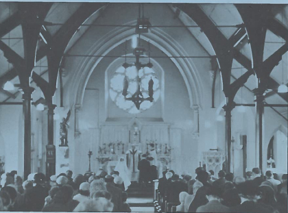 A service in the old church Source: OLSJ booklet