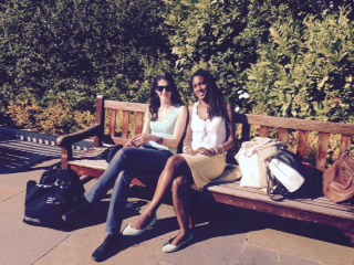 Making Suburban Faith PhD researchers Laura Cuch (UCL) and blogpost author Natalie Hyacinth (RHUL)