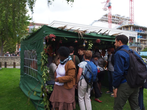 The Sukkah proved a popular focal point