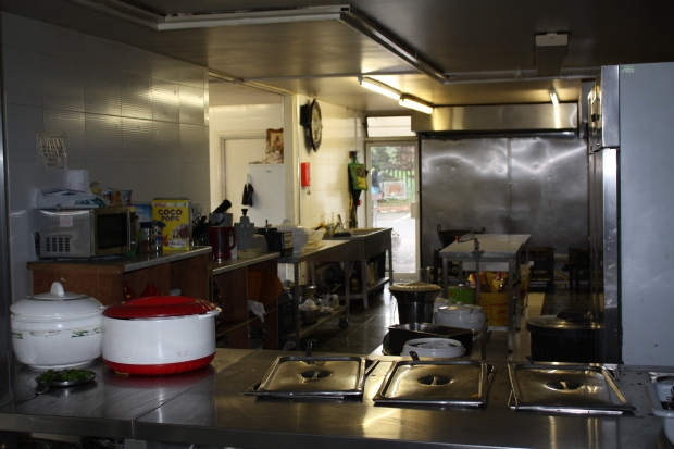 Kitchen in the Langhar Hall at London Sikh Centre
