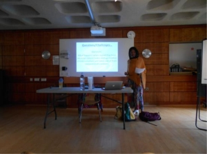Natalie Hyacinth presenting