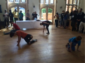 B-boy and B-girl breakdancing showcase