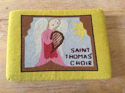 Handmade kneelers from St. Thomas' Church, Ealing
